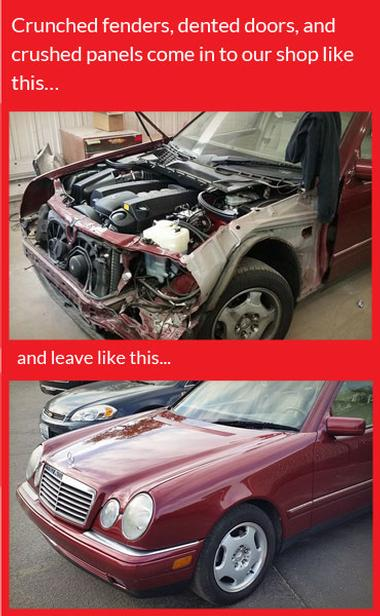 Befor and after of car